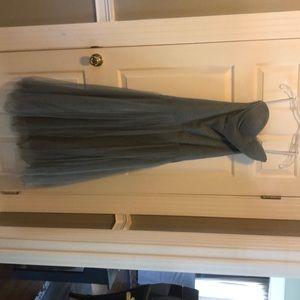 Jenny Yoo grey formal long dress